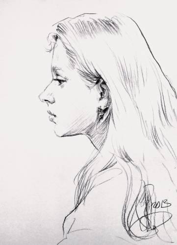 Набросок на рисунок девушки