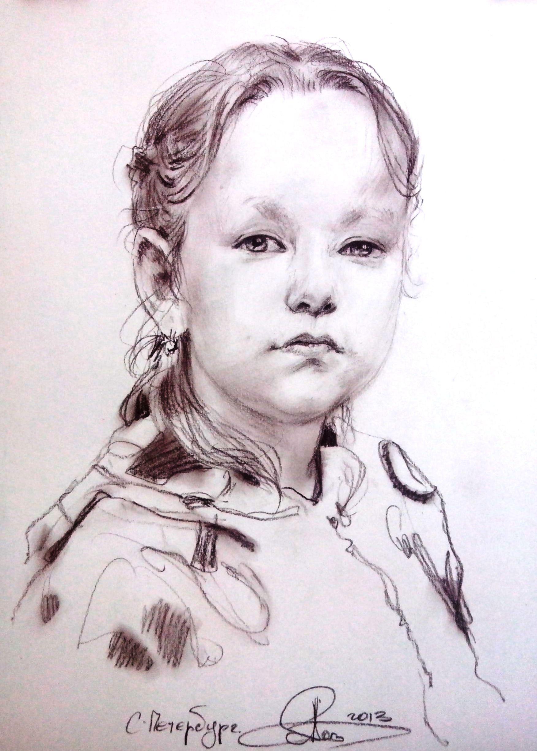 Фото портретов с карандашом которые нарисовали дети