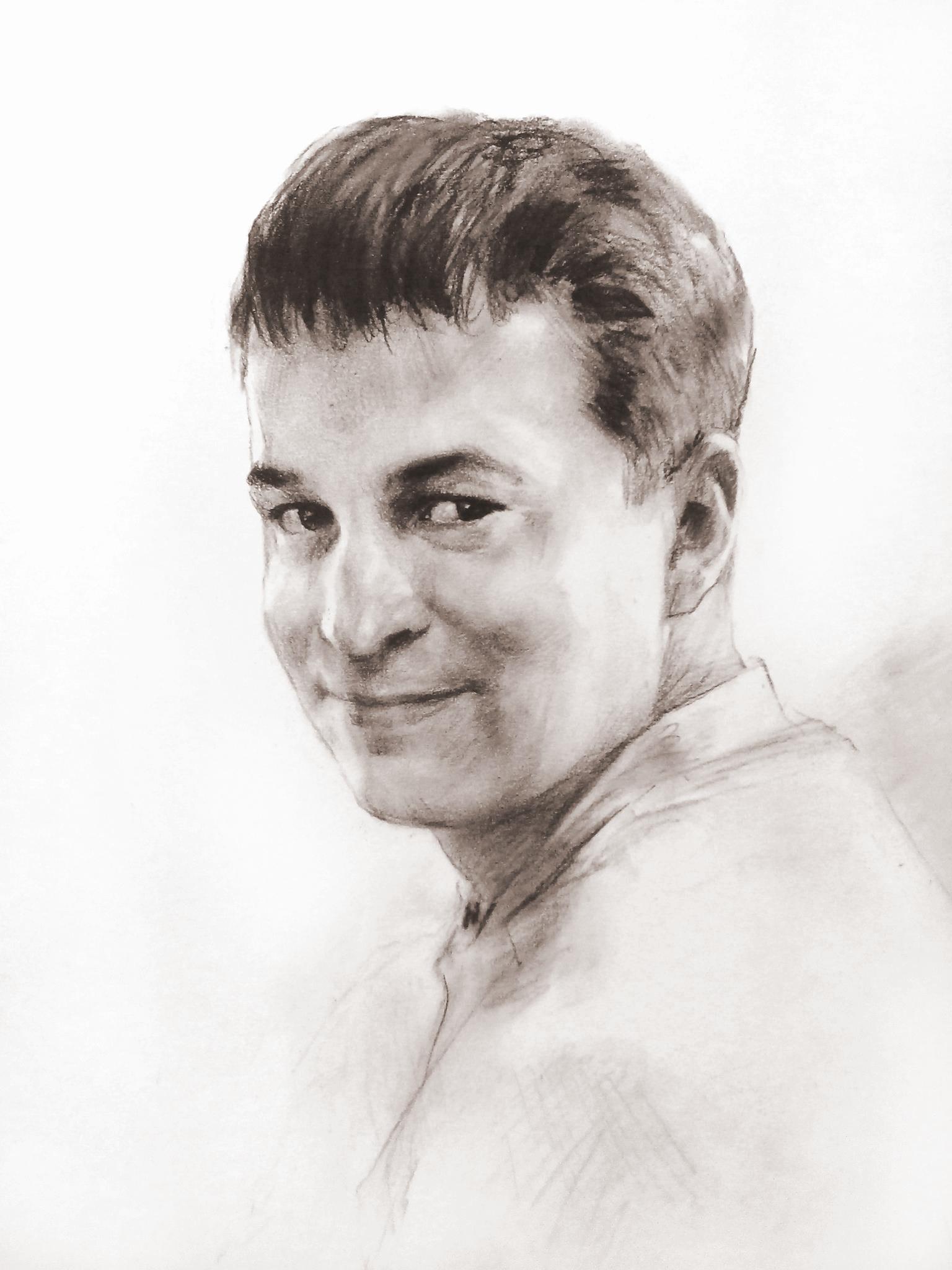портрет человека карандашом:
